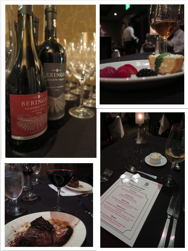 Beringer dinner, blog