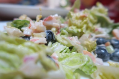 Fresh Bibb Salad With Blueberries