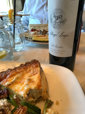 Quiche and Stags' Leap Winery? Why NOT!